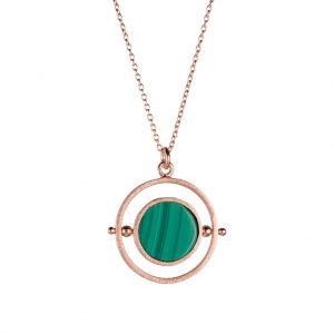Voyage Spinner Necklace In Rose Gold