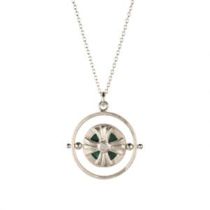 Voyage Spinner Necklace In Sterling Silver