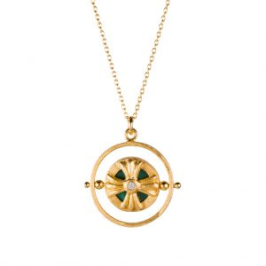 Voyage Spinner Necklace In Yellow Gold