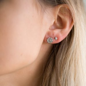 The Aditi Earrings & Kalinda Earrings In Sterling Silver