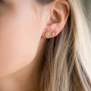 The Aditi Earrings & Kalinda Earrings In Yellow Gold