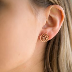 The Agra Earrings In Rose Gold