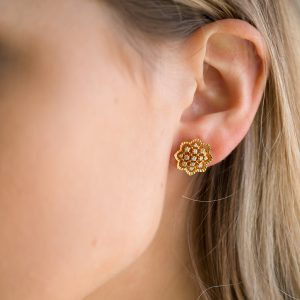 The Agra Earrings In Yellow Gold