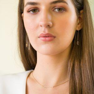The Bar Brooklyn Necklace & The Dubai Thread-Through Earrings