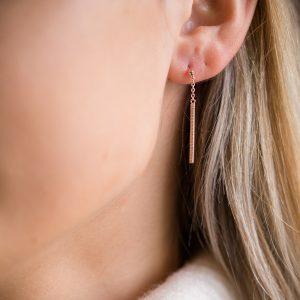 The Brooklyn Drop Earrings In Rose Gold