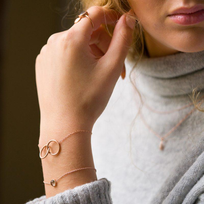 The Fjord Ring, The Oslo Bracelet In Smoky Quartz & The Bruges Bracelet