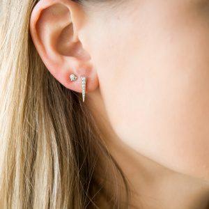 The Camden Triangle Earrings & Kalinda Earring In Sterling Silver