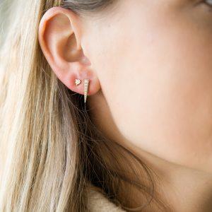The Camden Triangle Earrings & Kalinda Earring In Yellow Gold