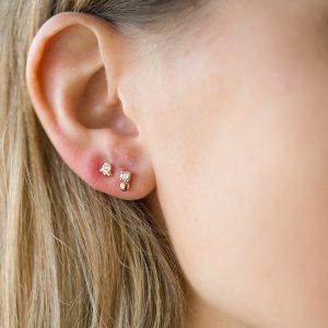 The Candy Earrings & Kalinda Earring In Sterling Silver