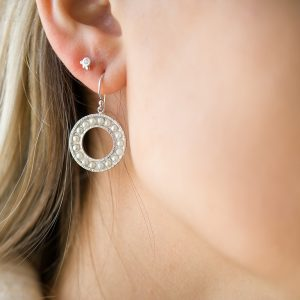 The Cara Pearl Earrings & Kalinda Earring In Sterling Silver