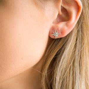 The Celeste Star Earrings In Sterling Silver