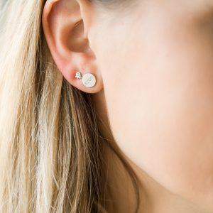The Chelsea Disc Earrings & Kalinda Earring In Sterling Silver