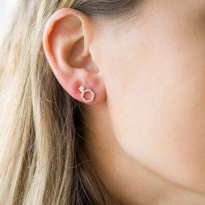 The Copenhagen Earrings & Kalinda Earring In Rose Gold