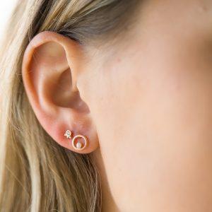 The Elissa Earrings & Kalinda Earring In Rose Gold