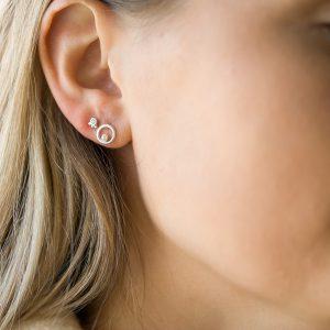 The Elissa Earrings & Kalinda Earring In Sterling Silver