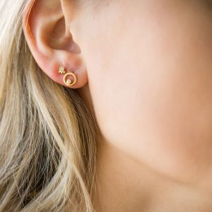 The Elissa Earrings & Kalinda Earring In Yellow Gold