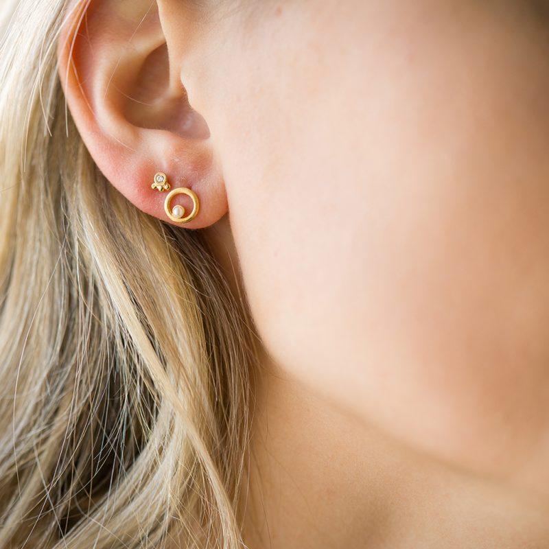 The Elissa Earrings & Kalinda Earring In Yellow Gold