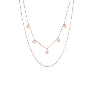 The Florence Layered Necklace In Rose Gold