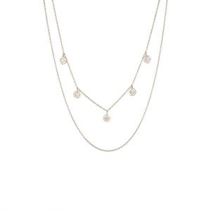 The Florence Layered Necklace In Sterling Silver