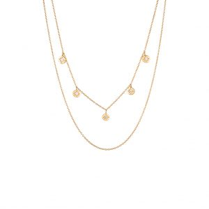 The Florence Layered Necklace In Yellow Gold