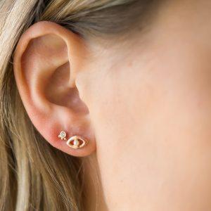 The Leticia Earrings & Kalinda Earring In Rose Gold