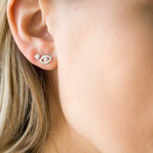 The Leticia Earrings & Kalinda Earring In Sterling Silver