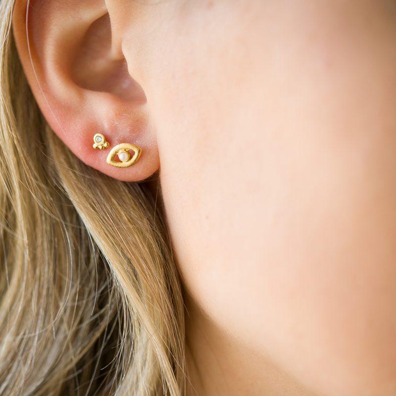 The Leticia Earrings & Kalinda Earring In Yellow Gold
