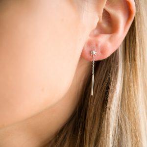 The Lyra Drop Earrings In Sterling Silver