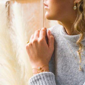 The Skÿ Ring, The Reykjavik Earrings, The Mäne Necklace, The Mäne Bracelet & The Bruges Bracelet