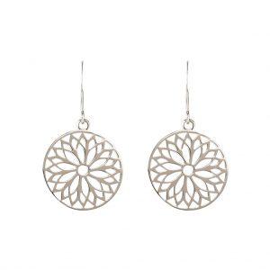 The Mandala Earrings In Sterling Silver