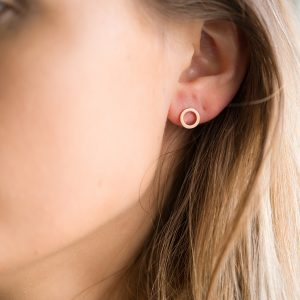 The Marie Disc Earrings In Rose Gold
