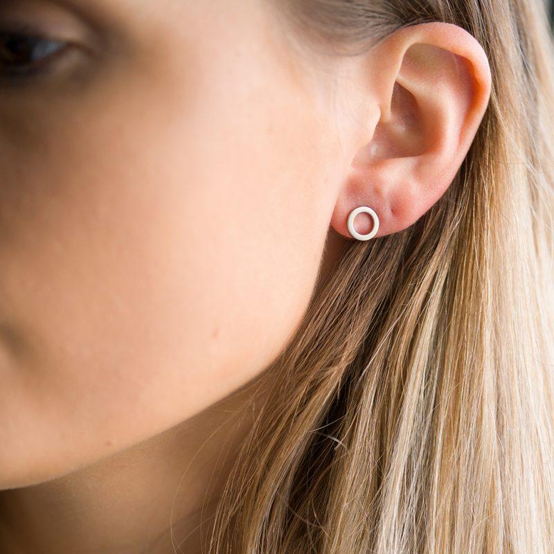 The Marie Disc Earrings In Sterling Silver