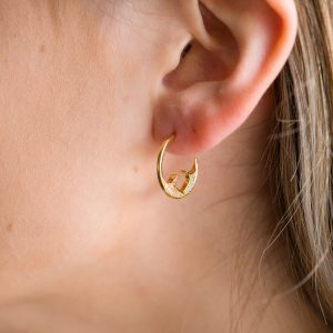 The Marrakesh Hoops In Yellow Gold