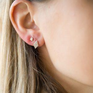 The Mumbai Diamond Earrings & Kalinda Earring In Rose Gold