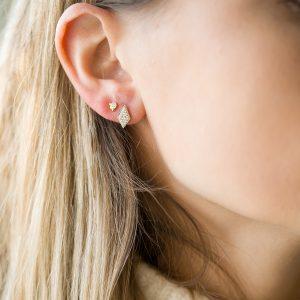 The Mumbai Diamond Earrings & Kalinda Earring In Yellow Gold
