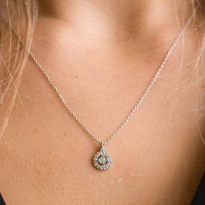 The Nomad Necklace In Green Moonstone