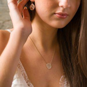 The Mandala Earrings & The Mandala Necklace
