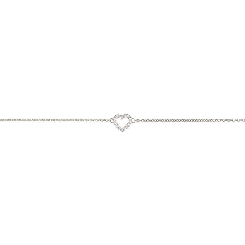 The Paris Heart Bracelet In Sterling Silver