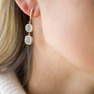 The Tromsø Earrings In Rose Gold