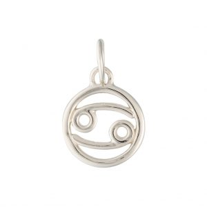 Cancer Zodiac Charm In Sterling Silver