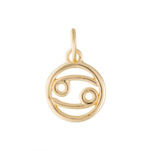 Cancer Zodiac Charm In Yellow Gold