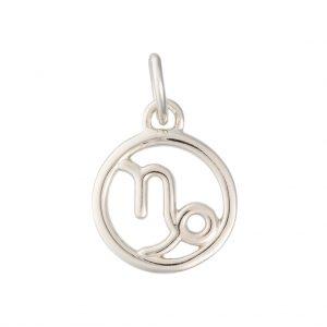 Capricorn Zodiac Charm In Sterling Silver