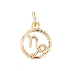 Capricorn Zodiac Charm In Yellow Gold