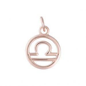 Libra Zodiac Charm In Rose Gold