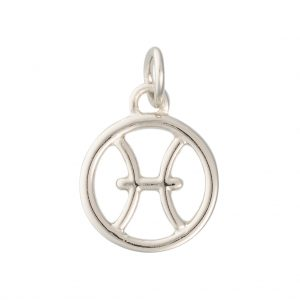 Pisces Zodiac Charm In Sterling Silver