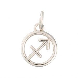 Sagittarius Zodiac Charm In Sterling Silver
