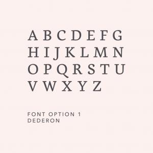 Engraving Fonts Dederon