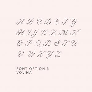 Engraving Fonts Volina