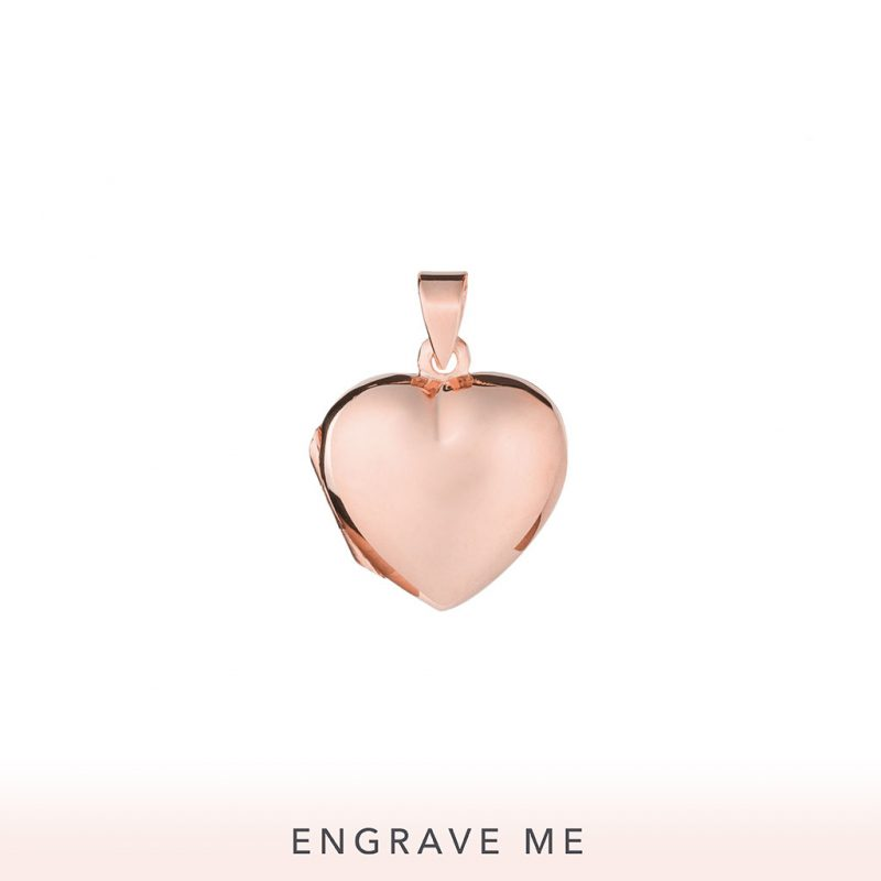 The Aimee Locket In Rose Gold.