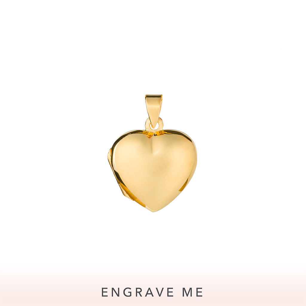 The Aimee Locket In Yellow Gold.